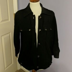 Black button up jacket